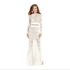 Guess by Marciano Ivory Lace Maxi Skirt Set 🤍